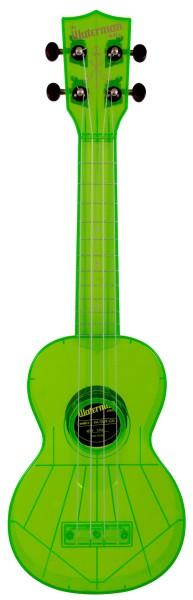 KALA Waterman KA-SWF-GN - Fluorescent Sour Apple Green Soprano Ukulele, with Tote Bag