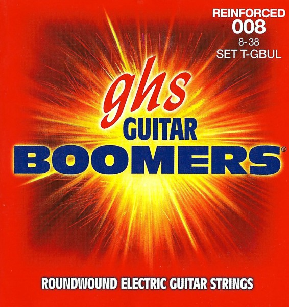 GHS Reinforced Boomers Electric Guitar String Sets